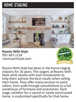 2021 Gold Winner - Home Staging - Star Tribune Reader's Choice Minnesota's Best